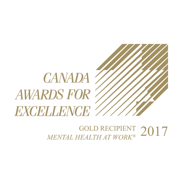 Canada awards for excellence. Gold recipient, mental health at work, 2017