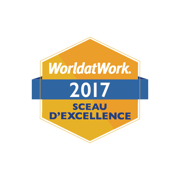 World at work, 2017, Sceau D'excellence