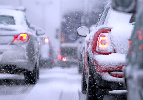 Practice safe winter driving techniques to prevent accidents on snow-covered roads