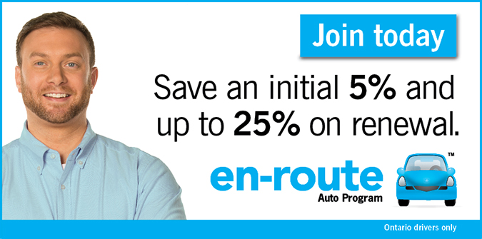 En-route Auto Program Join today - Save an initial 5% and up to 25% on renewal.
